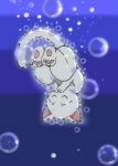 泡。沈み行く風船猫・タマ。