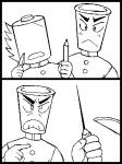鉛筆(レイヤー1で人物)