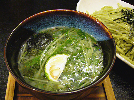 ぎんや 抹茶つけ麺 汁