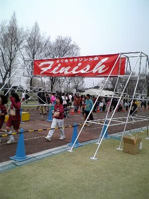 さくらマラソンフィニッシュ