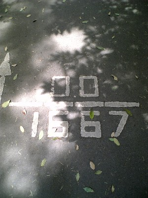 砧サイクリングコース距離表示