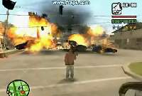 GTA San Andreas 100 car explosion!