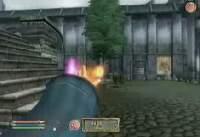 oblivion 炎魔法 範囲1Ftと100Ftの比較