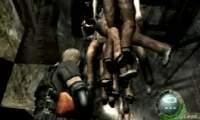 バイオハザード4 ガナードを地面の中に隠れて殲滅