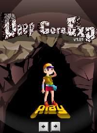 少女が洞窟を下っていくゲーム