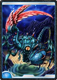 海底のハサミ蟹