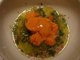 海水ウニとアミノ酸のスープ