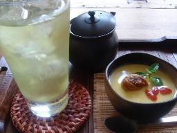 天竜とほうじ茶杏仁