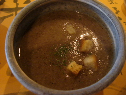 野菜のスープ(キノコ系?)