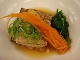 焼き豆腐と穴子の煮物