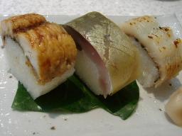 押し寿司3種(鯖・鱧・味噌漬け鱧)