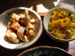 大豆の五目煮・栗かぼちゃのサラダ