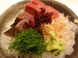 旬魚のお造り(マナガツオ・寒ブリ)