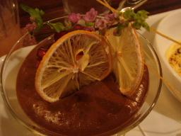 チョコと柚子のムース