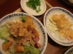 エビマヨ・ツナと揚げじゃがサラダ