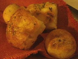 ワカメの揚げパン・フォカッチャ・ポルチーニパン