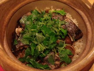 秋刀魚とナメコのご飯
