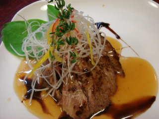 マグロのホホ肉のソテー