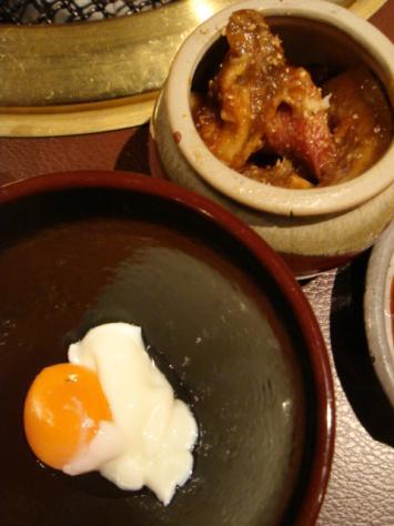 味噌カルビと温泉卵タレ