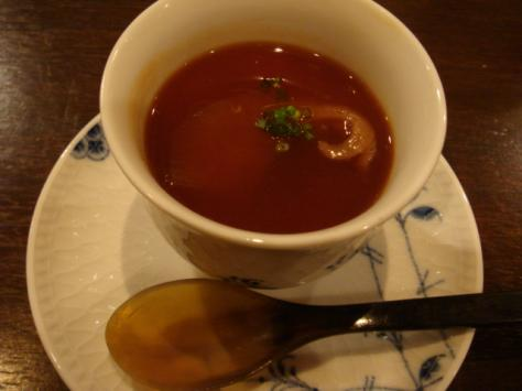 フカヒレと生麩の洋風茶碗蒸し