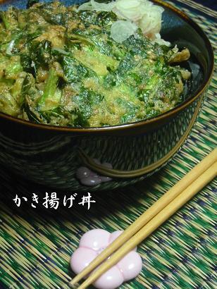 小松菜のかき揚げ丼