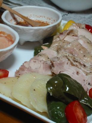 蒸し鶏とお野菜