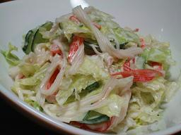 残り野菜で簡単サラダ