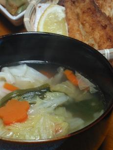 また中華系スープ