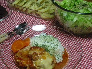チーズがトロ~リ鶏のトマト煮込み
