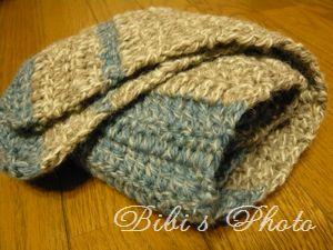 子どものかぎ針編みマフラー