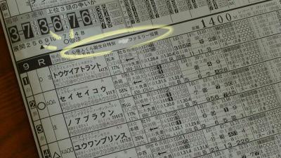 予想紙に。。。 20080301 高知競馬にて