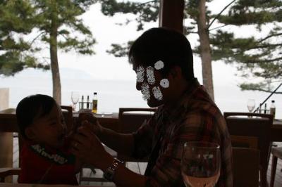 テラスレストランでディナー♪ @ベネッセハウス 20080516 直島