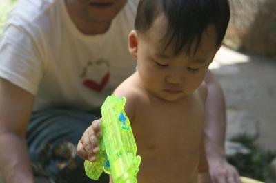 初めての水遊び 20080720