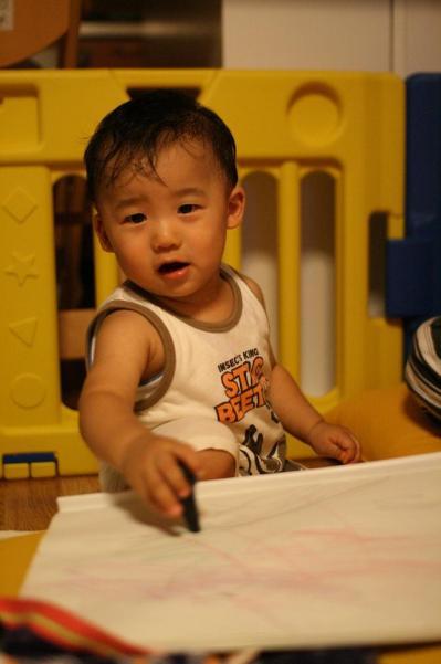 初めてのお絵かき♪ 20080717