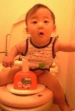 トイレデビュー 20080715 しゅうと