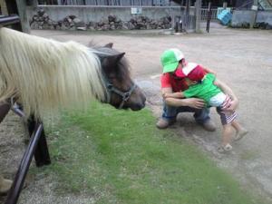 お馬さんにビビリ。。。 20080921 @レオマ