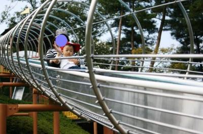 エックススライダー with ママ 20081018 まんのう公園