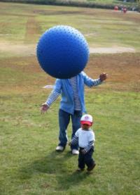 怪人ボール人間!? 20081018 まんのう公園