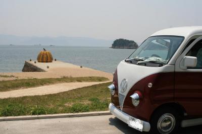 「南瓜」と愛車と 20080517 直島