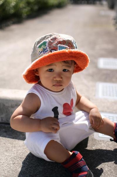 新しい帽子 20080712 しゅうと