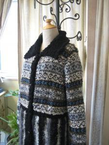 編み込みコート a
