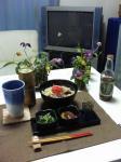 沖縄そばと小鉢