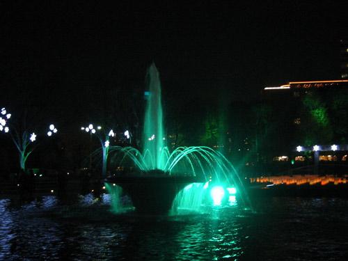 噴水公園です