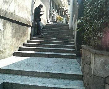 こんな階段にも風情を感じます