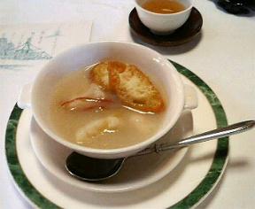 カリフラワーとホタテのスープ