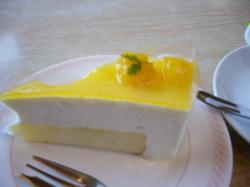 マンゴーケーキのアップ