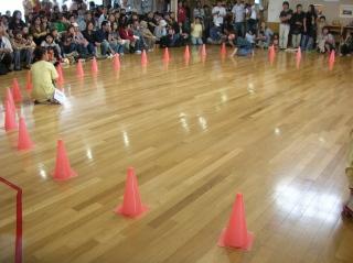 室内での運動会