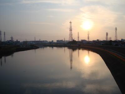 Tsurumi River.