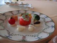 (前菜)タスマニア産オーシャントラウトとキャロットのラペ フヌイユ風味