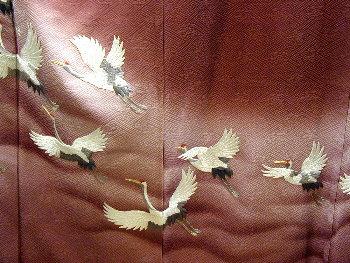 鶴の裾模様